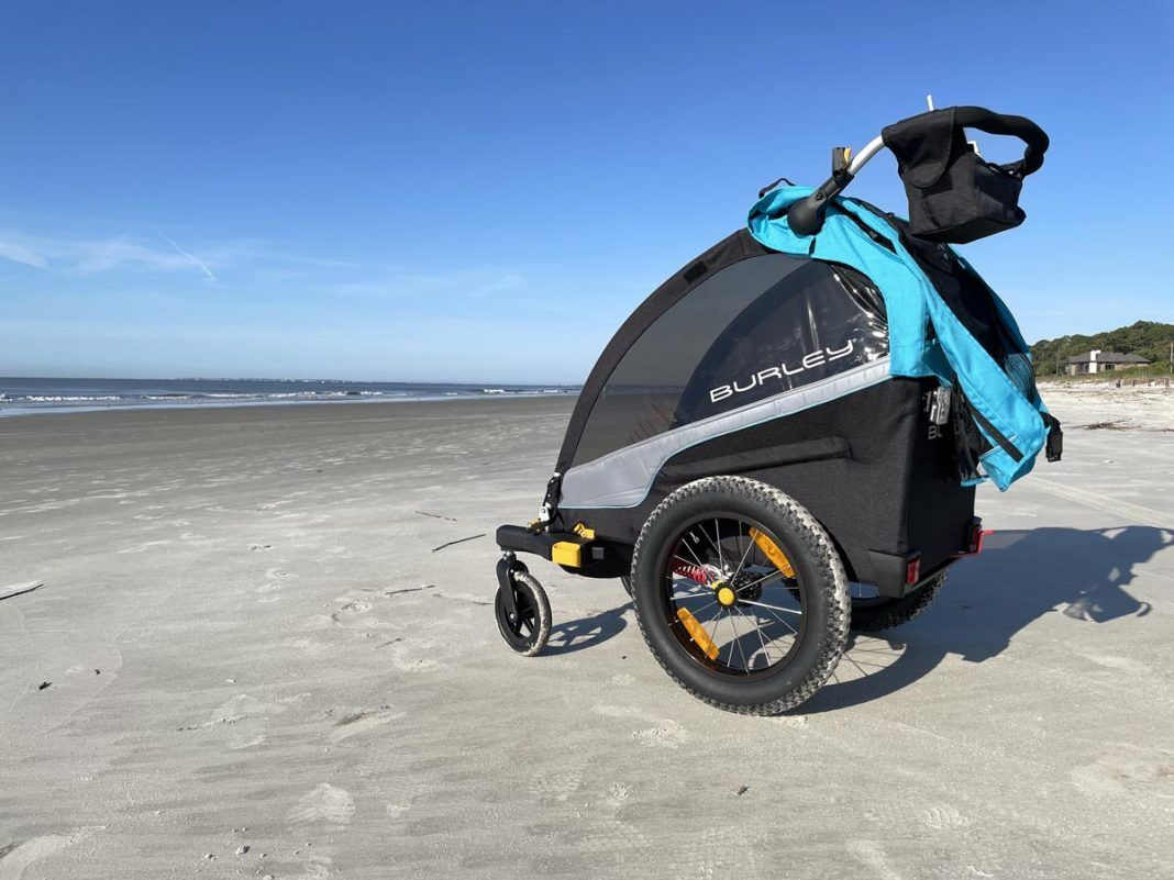 Review: Burley D'Lite X single seat child bike trailer is fun for kids even sitting still thumbnail