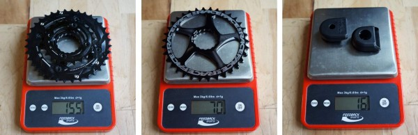 2014 Race Face chainrings actual weights