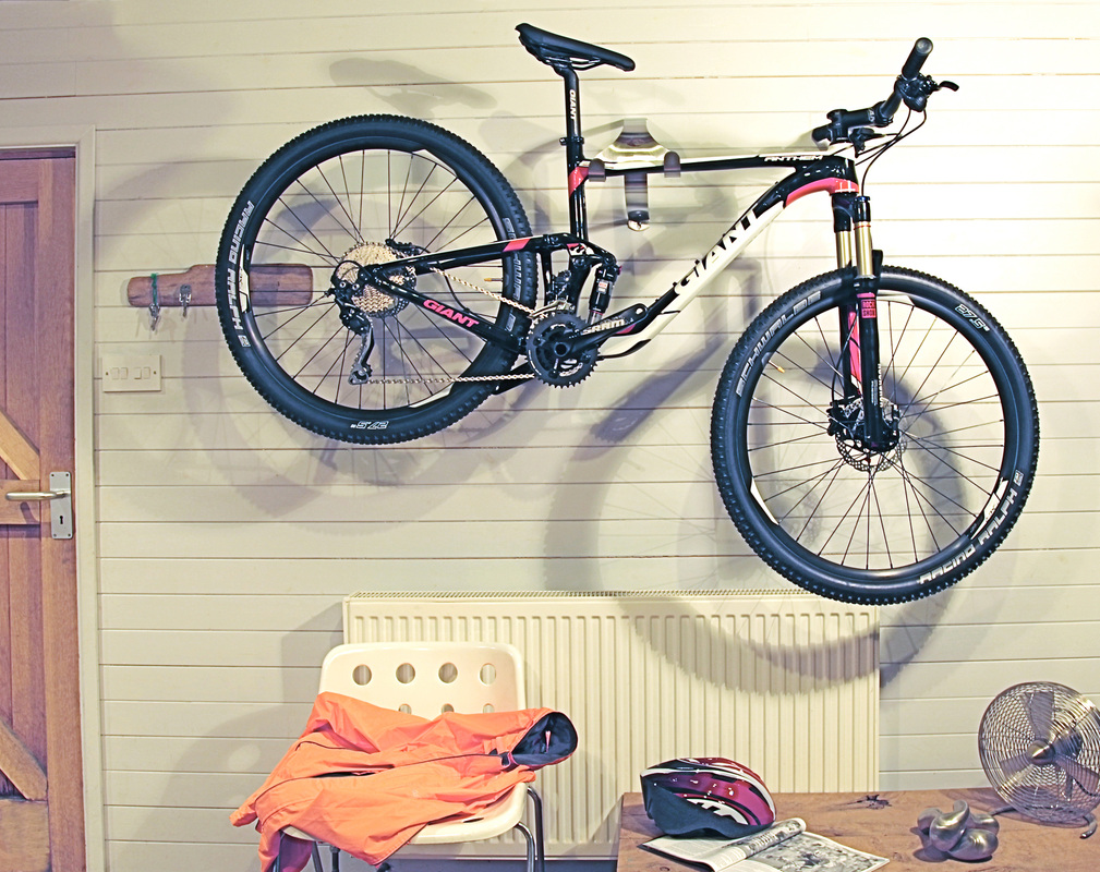 Found horizontal or vertical bicycle storage with the Bicycle bookshelf
