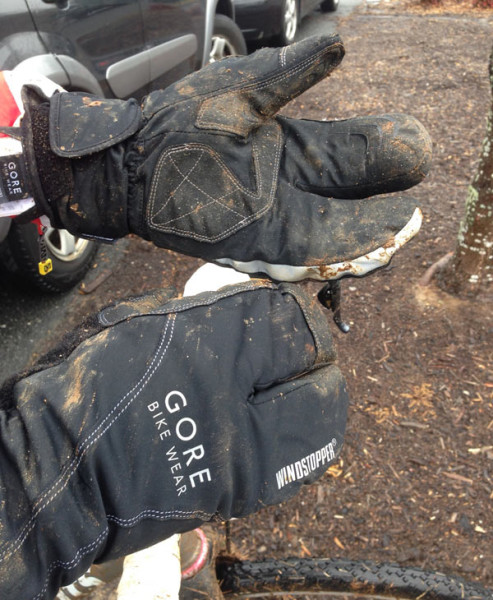 Gore Windstopper Thermo cycling gloves with standard and lobster fingers