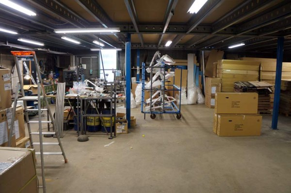 Lapierre Cycles headquarters tour - frames ready for assembly and QC