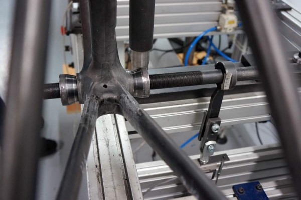 Lapierre Cycles headquarters tour - frame and component testing room