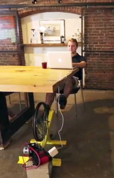 Pedal-Power-Pedal-Genny-electric-generator-cycle-desk