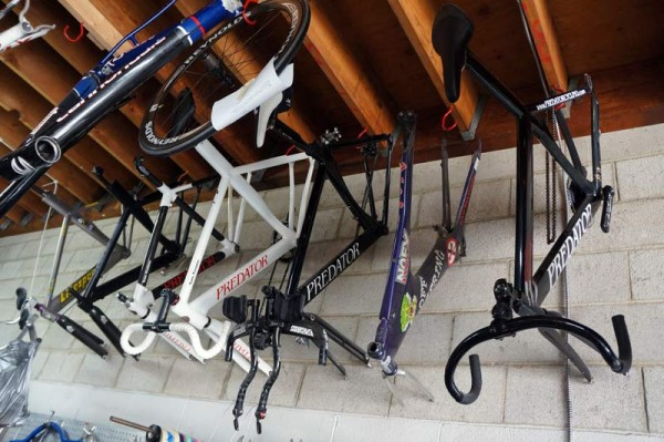 Predator Cycles factory tour - original alloy and steel frames