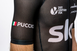 lRapha Team Sky Road Race Mesh Skinsuit Sheds Heat, Drag & Humility