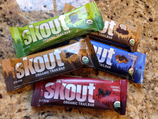 Skout Natural gluten free energy bars for athletes
