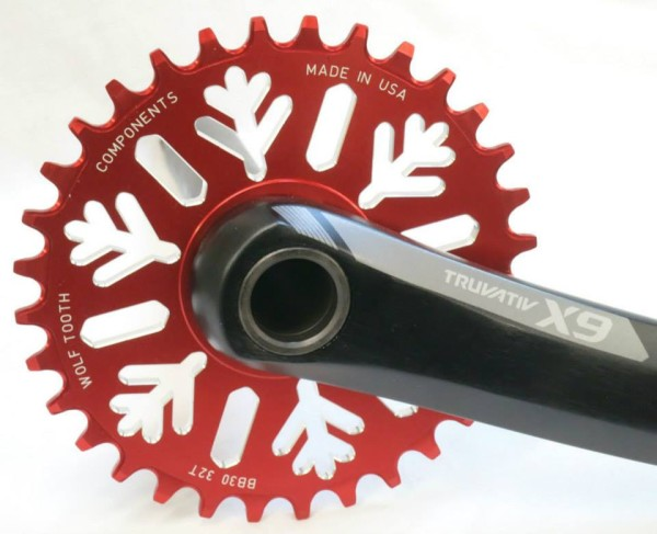 WTC Snowflake bb30 fatbike chainring limited edition red (1)