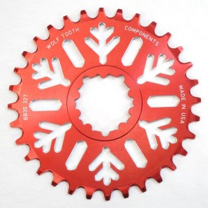 WTC Snowflake bb30 fatbike chainring limited edition red (2)