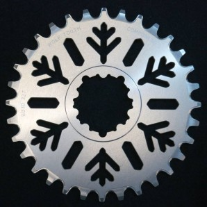 WTC Snowflake bb30 fatbike chainring limited edition red (3)