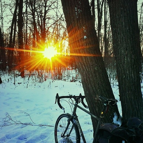 winnipeg winter bike riding
