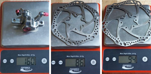 Hayes CX Pro mechanical disc brake review and actual weights