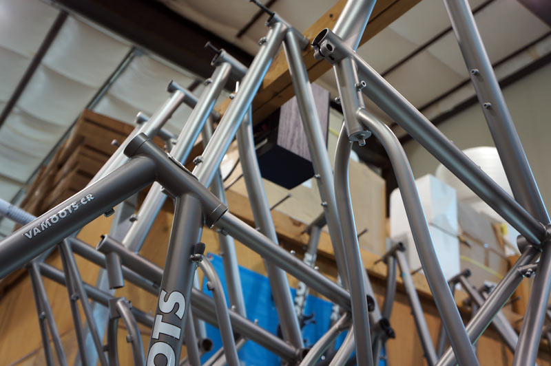 Moots titanium bicycles factory tour - frame finishing