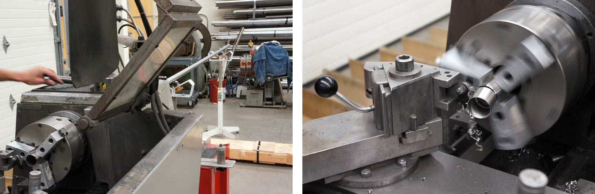 Moots titanium bicycles factory tour - tube cutting mitering and bending