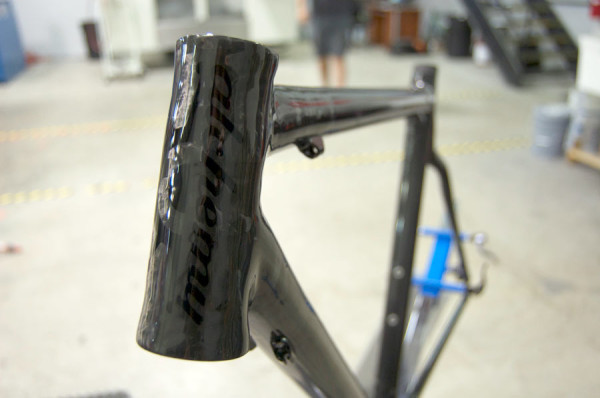 Alchemy Bicycles factory tour - finished carbon frame