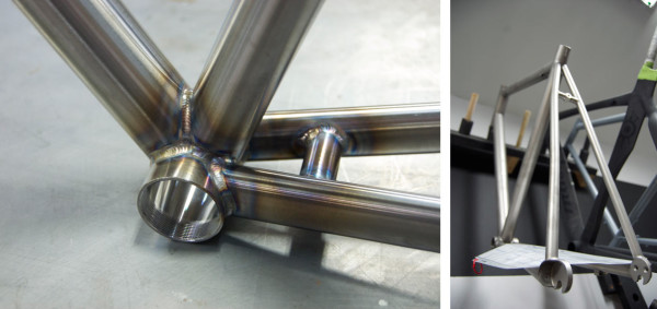 Alchemy Bicycles factory tour - steel and titanium bike frame welding