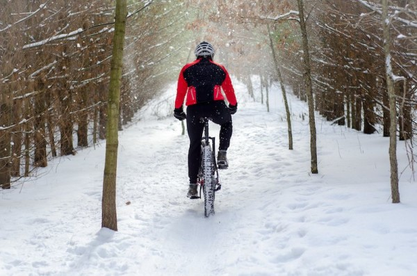 bikerumor pic of the day fat bike in the snow