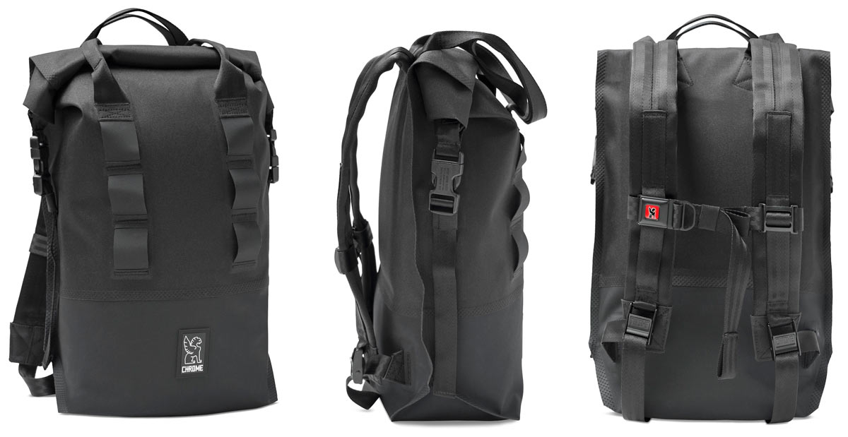 Super Tough Chrome Knurled Welded Pannier-Rack Bags & Backpacks ...
