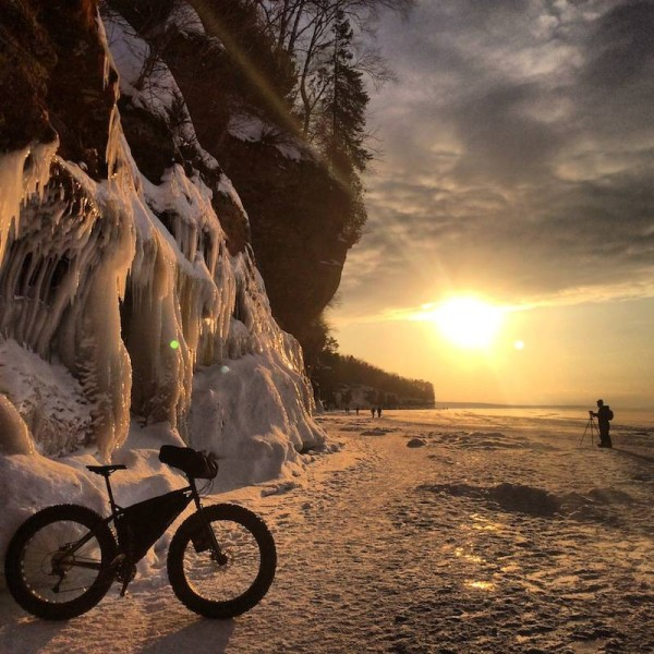 bikerumor pic of the day lake superior sunset