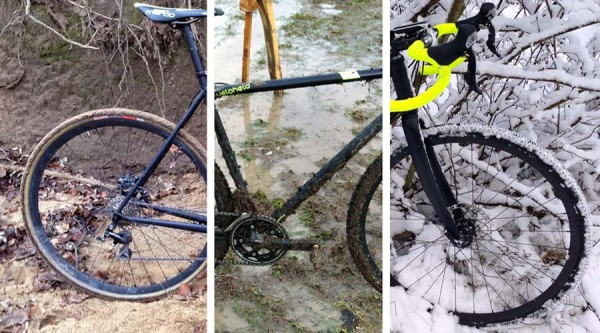 Veloheld's IconX disc-brake steel cyclocross frame is well suited to sand, mud, and snow