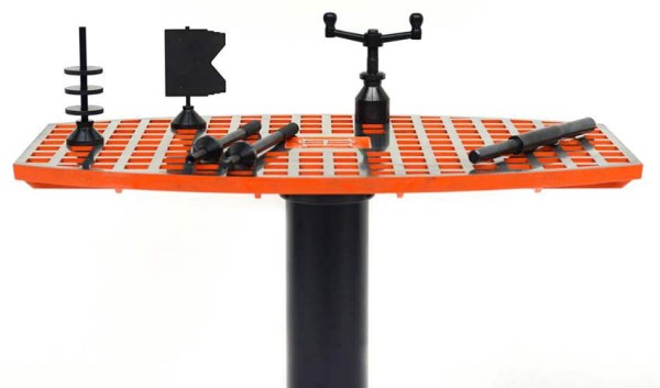 Loco-Machine bicycle frame builder tools and alignment tables