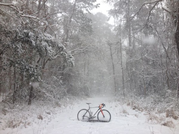 bikerumor pic of the day snow in new bern nc