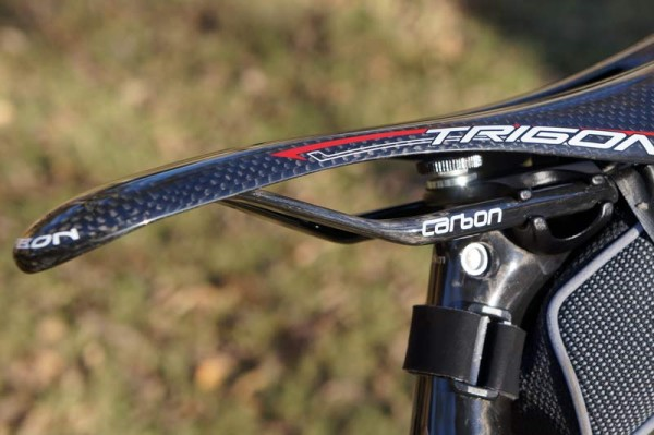 Trigon VCS06 full carbon fiber bicycle saddle with flexible rails