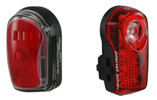 Planetbike Superflash USB and Micro USB rechargeable bicycle tail lights