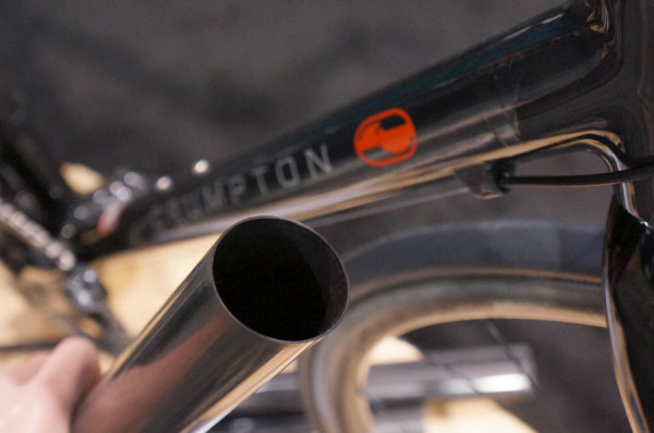 nabs 2014 - Crumpton Type 5 road bike with molded carbon tubes made in house
