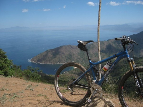 Ride from Puerto Vallarta to Yelapa Jalisco Mexico looking out over the Bay of Banderas with Ecoride tours