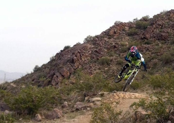 prototype Pivot Cycles 650B downhill mountain bike testing under world cup riders