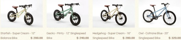 Cleary Balance Bikes Pricing