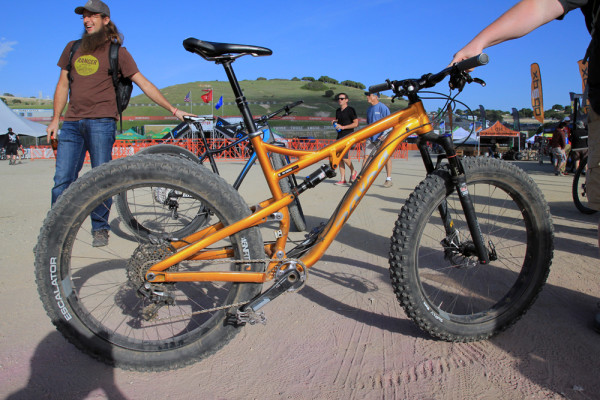 Salsa Buzz Saw full suspension fat bike Whisky prototype carbon rim   (30)