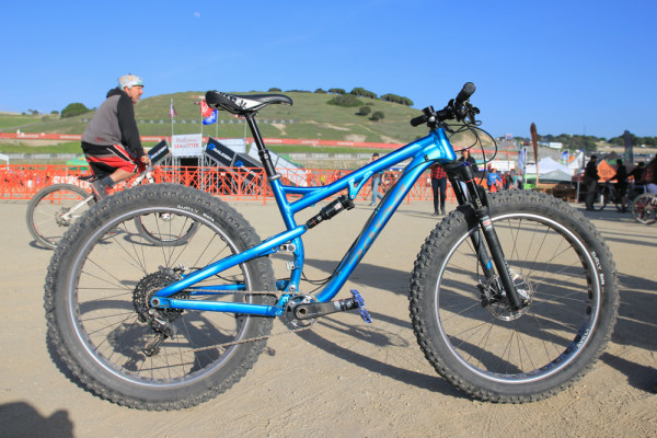 Salsa Buzz Saw full suspension fat bike Whisky prototype carbon rim   (37)