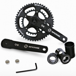 Verve_InfoCrank_driveside_cycling_110bcd_compact_crankest_power_meter_Praxis_chainrings_and_bottom_bracket
