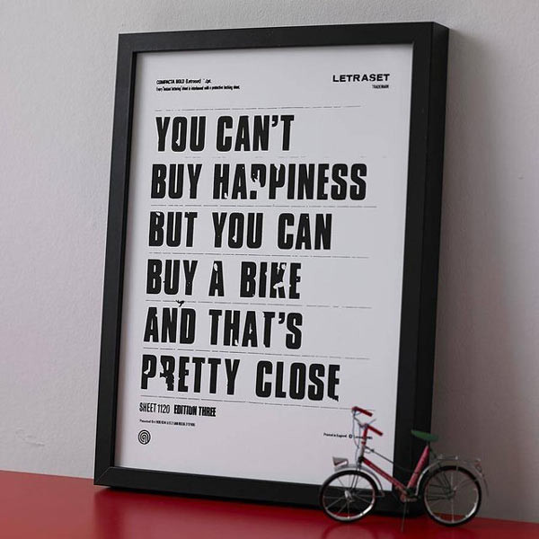 cant-buy-happiness-but-can-buy-a-bike-poster