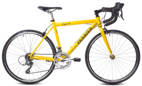 Farrier Stayer 24 youth road bike with Shimano STI drivetrain