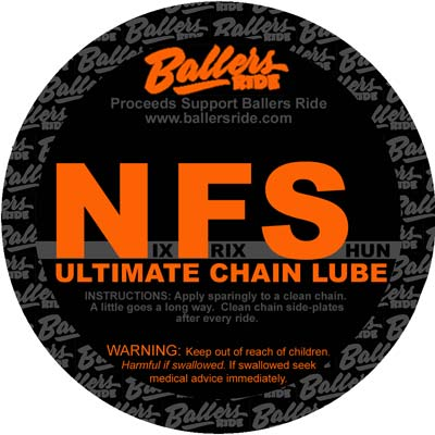 ballers ride nix frix shun ultimate bicycle chain lube