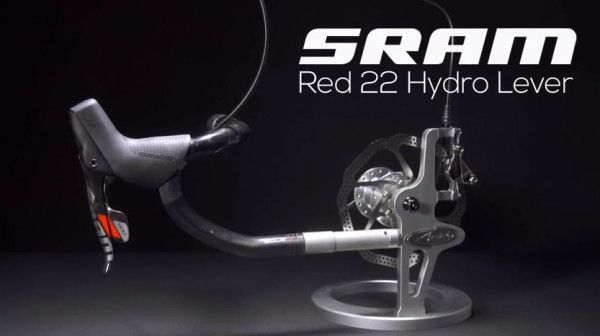redesigned 2015 SRAM Hydro R hydraulic disc brakes for road bikes