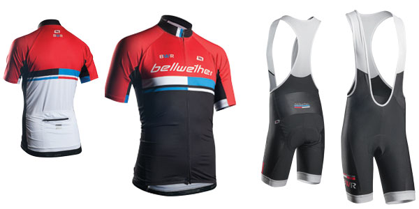 Bellwether matrix mens cycling jersey and bibshorts