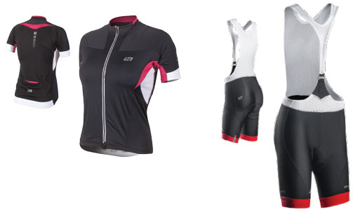 Bellwether Optime womens cycling jersey and bibshorts