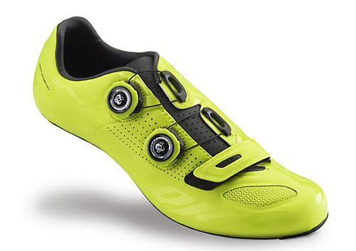 S-Works Road Shoe Limited Edition Color Dipped High-Viz