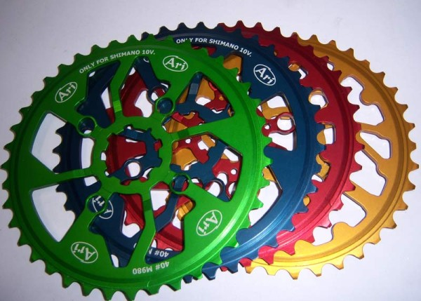 Ari Bike Pignoni oversized 40-tooth and 42-tooth cogs for Shimano and SRAM cassettes