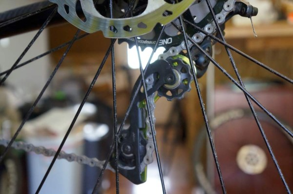 OneUp Components RAD Cage replacement Shimano derailleur cage to offset pulley for oversized rear cogs