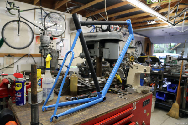 Prototype Hunter Cycles Cyclocross Carbon Steel Frame (1)