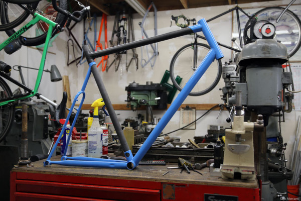 Prototype Hunter Cycles Cyclocross Carbon Steel Frame (2)