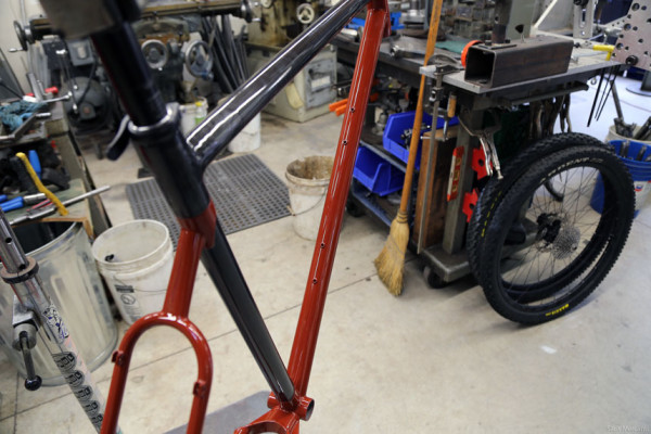Prototype Hunter Cycles Cyclocross Carbon Steel Mountain Bike Frame (1)