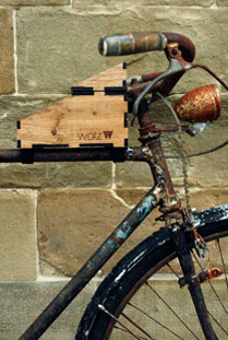 Wotz multi-purpose wooden packaging for its pedals