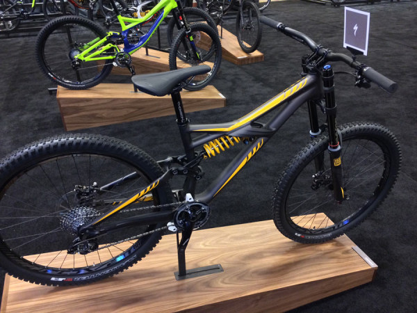 2015 Specialized Enduro Evo with Boxxer dual crown fork and Ohlins coil over rear shock