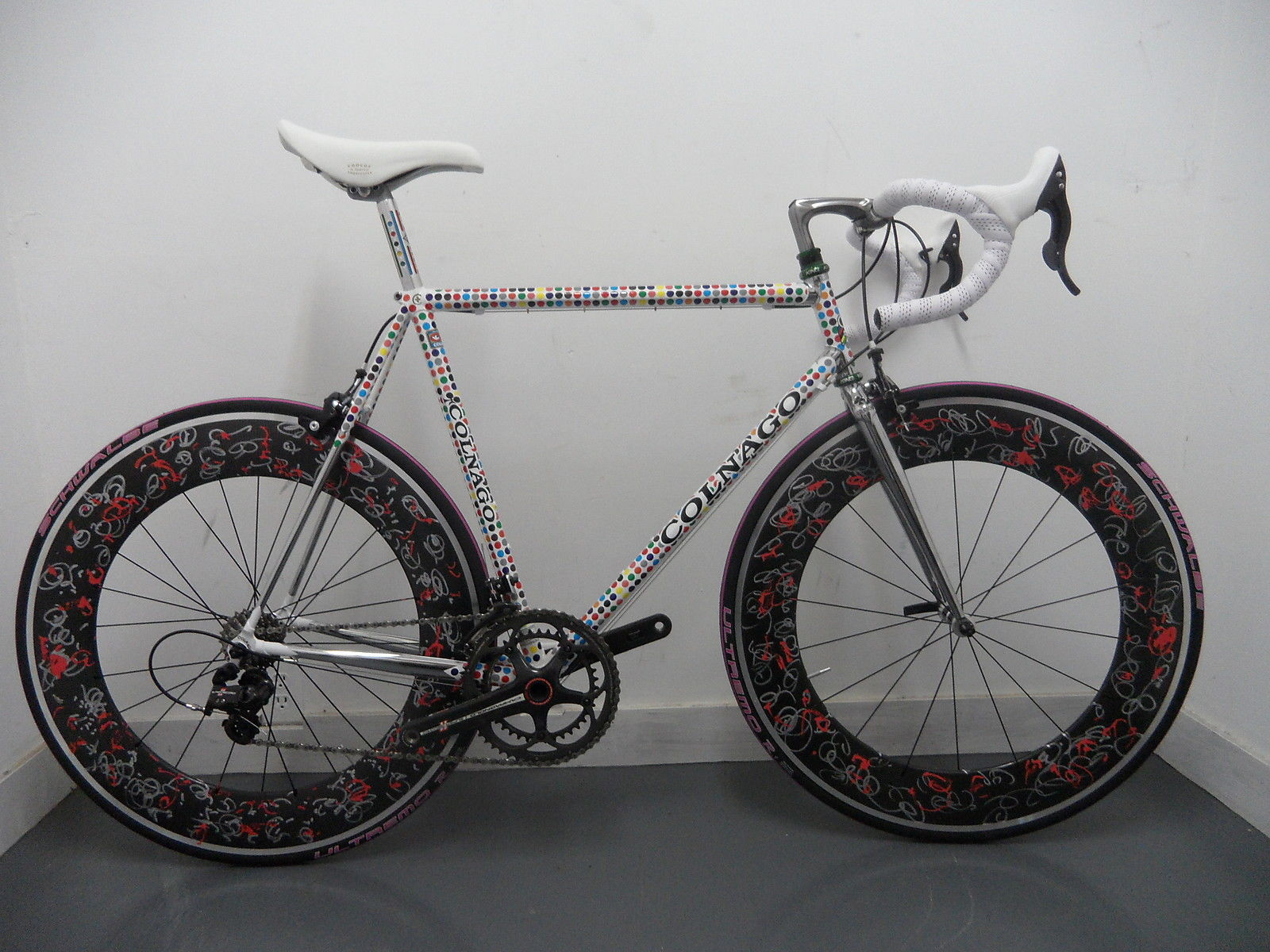 Prototype Colnago Road Bike With Matching Art Wheels Now