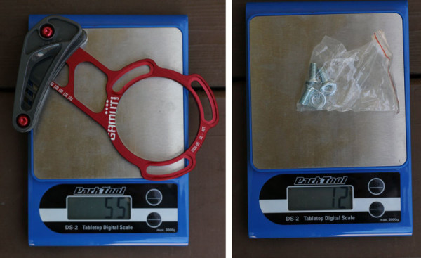 Gamut SXC Trail Guide Actual Weight Scale Shot (2)